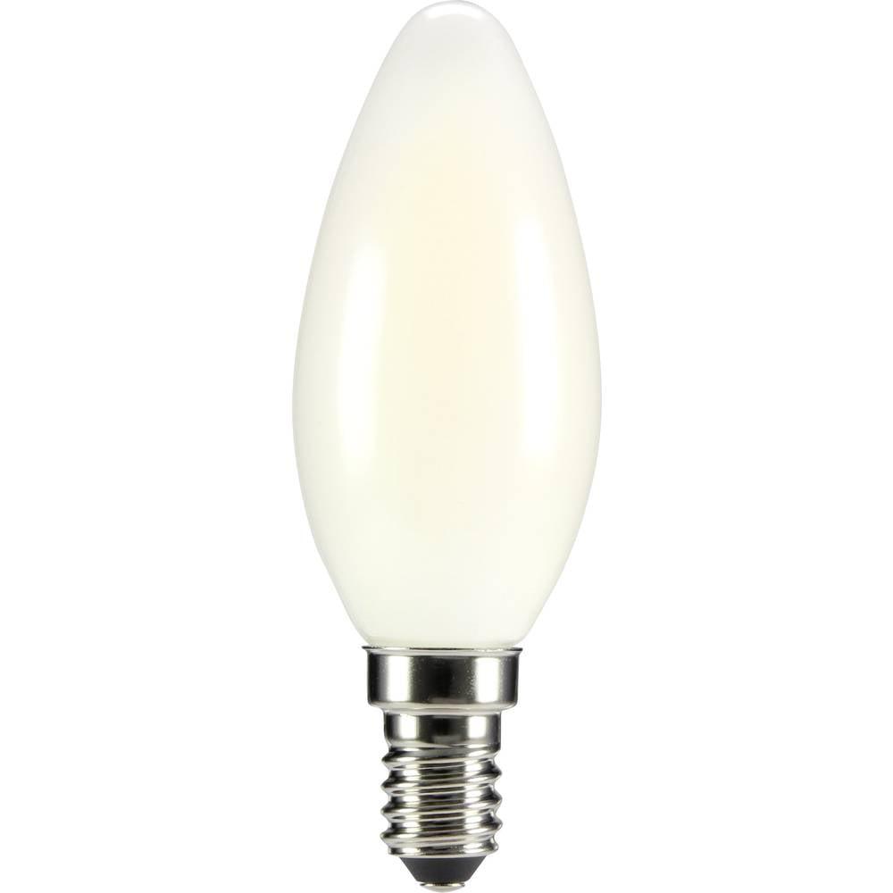 LED žarnica E14 oblika sveče 4 W = 35 W topla bela (premer x D) 35 mm x 99 mm EEK: A++ Sygonix filament 1 kos