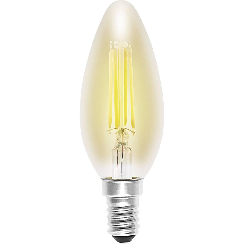 LED žarulja (jednobojna) sygonix 230 V E14 4 W = 33 W zlatna KEU: A++ oblik svijeće (promjer x D) 35 mm x 99 mm filament 1 kom.