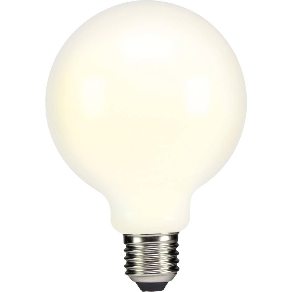LED žarnica E27 okrogla oblika 6 W = 55 W topla bela (premer x D) 95 mm x 135 mm EEK: A++ Sygonix filament 1 kos