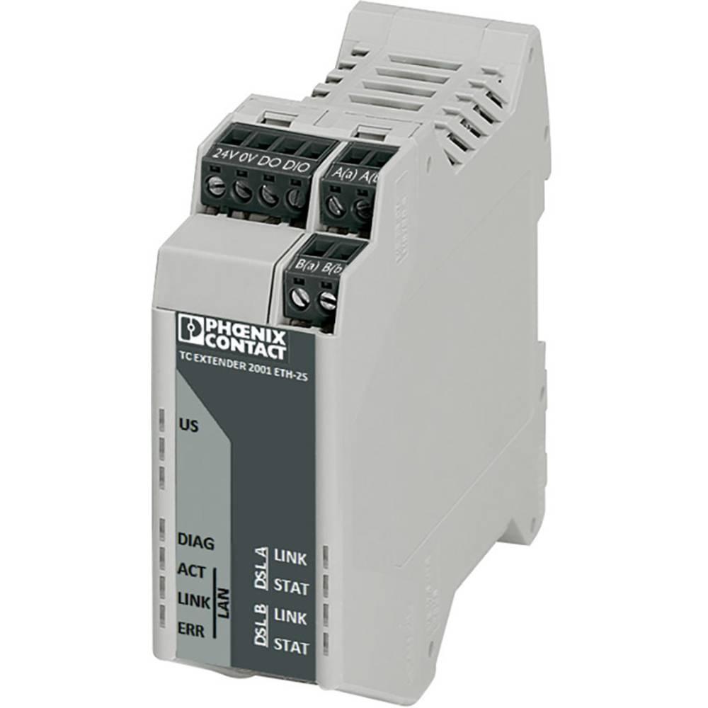 Druga generacija: neupravljani eternetski ekstender TC EXTENDER 2001 ETH-2S Phoenix Contact 2702409 18 - 30 V/DC