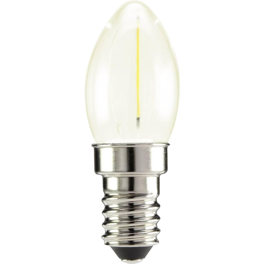 LED žarnica E14 oblika sveče 0.5 W topla bela (premer x D) 22 mm x 60 mm EEK: A++ Sygonix filament 1 kos
