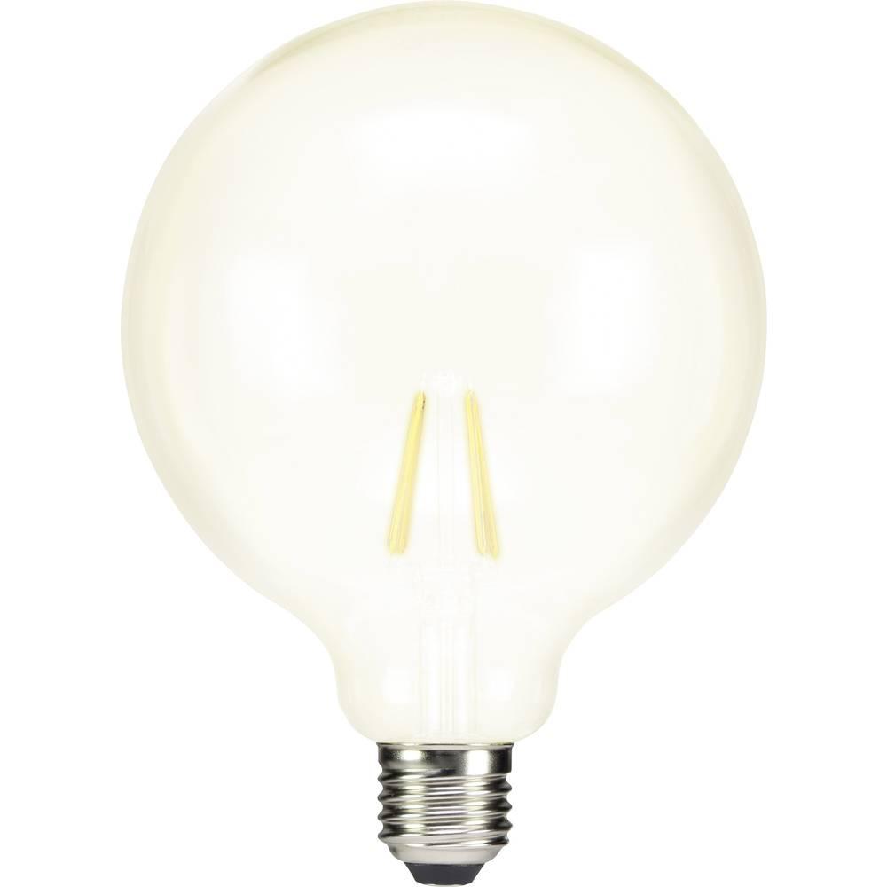 LED žarnica E27 okrogla oblika 7 W = 60 W topla bela (premer x D) 124 mm x 168 mm EEK: A++ Sygonix filament 1 kos