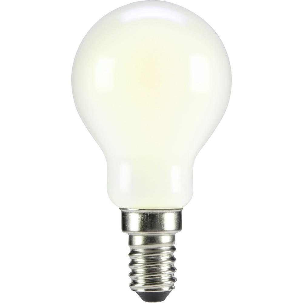 LED žarnica E14 oblika kaplje 4 W = 35 W topla bela (premer x D) 45 mm x 84 mm EEK: A++ Sygonix filament 1 kos