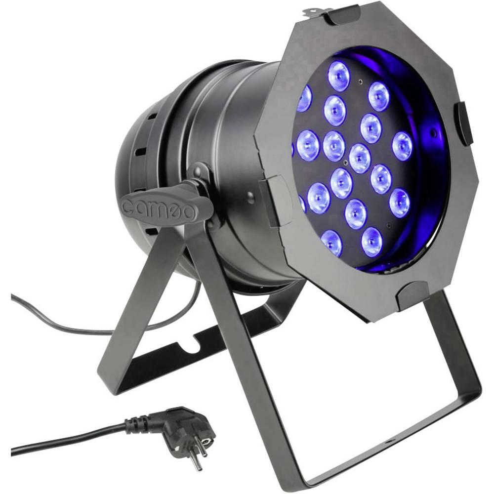 LED-PAR-žaromet Cameo PAR 64 CAN TRI 3W BS št. LED: 18 x 3 W