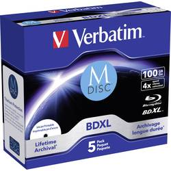 M-DISC Blu-ray XL Rohling 43834 Verbatim 100 GB u kutiji ponovo ispisivanje 1 kom.