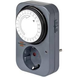 Stikalna ura za vtičnico, analogna, dnevni program Brennenstuhl 1506450 IP20