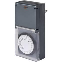 Stikalna ura za vtičnico, analogna, dnevni program Brennenstuhl 1506460 IP44