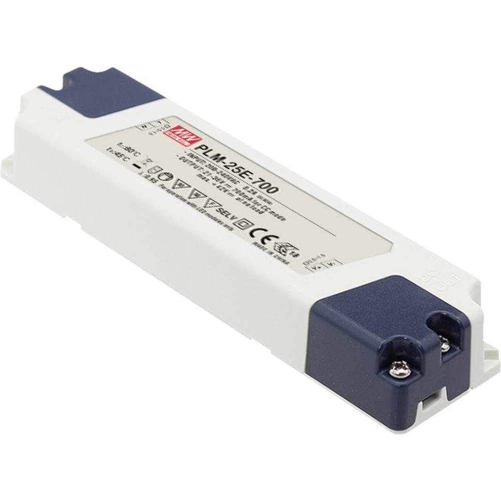 LED gonilnik, preklopni napajalnik Mean Well PLM-25E-700 25 W (maks.)
