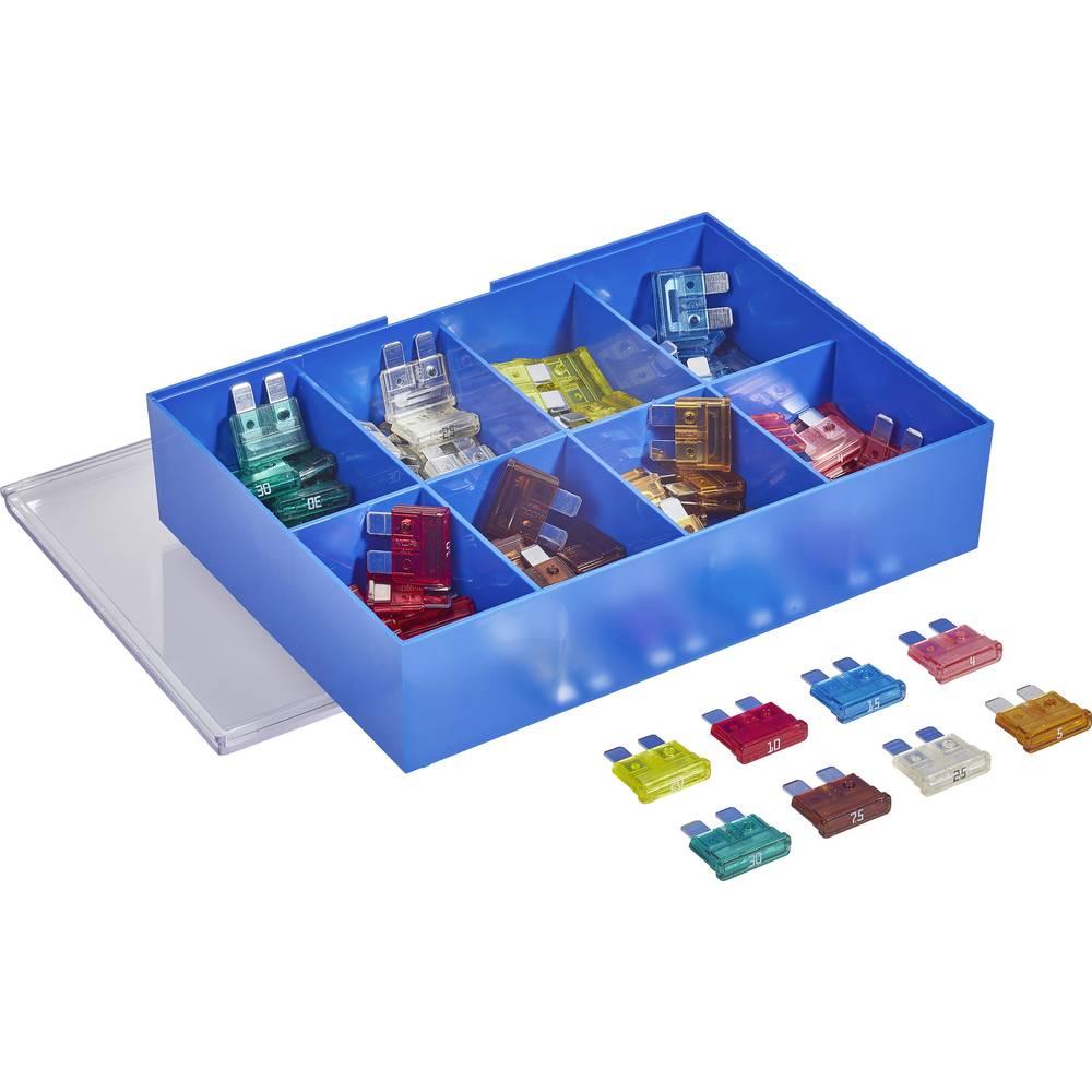 Standardna ploščata varovalka 4 A, 5 A, 7.5 A, 10 A, 15 A, 20 A, 25 A, 30 A roza, svetlo rjave, rjave, rdeče, modre, rumene, mat