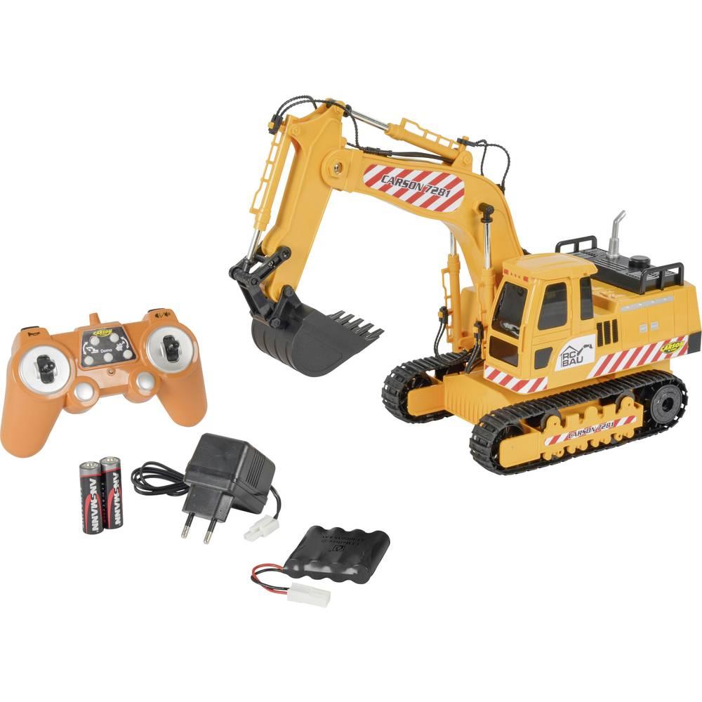 Carson RC Sport Raupenbagger 1:20 RC začetniški model, konstruktorsko vozilo,vključuje akumulator, polnilnik und Senderbatterien