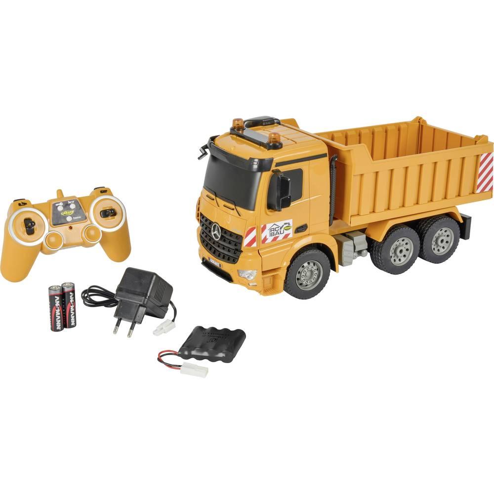 Carson RC Sport Muldenkipper 1:20 RC začetniški model, konstruktorsko vozilo,vključuje akumulator, polnilnik und Senderbatterien