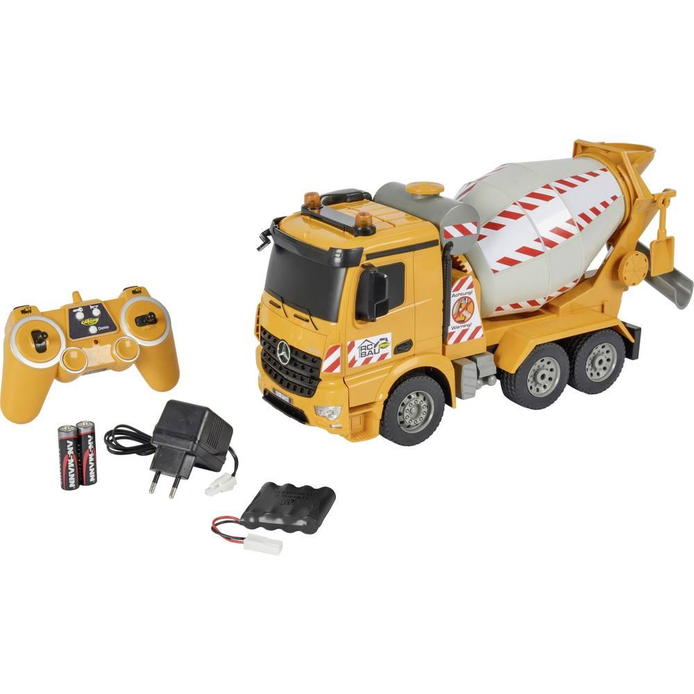 Carson RC Sport Betonmischer 1:20 RC začetniški model, konstruktorsko vozilo,vključuje akumulator, polnilnik und Senderbatterien