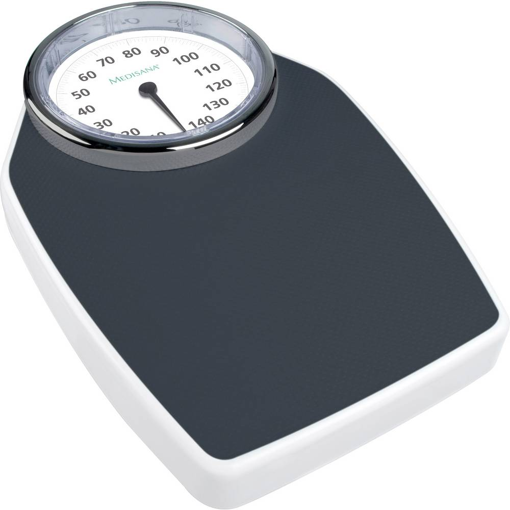 analognana osebna tehtnica Medisana PSD obseg tehtanja (maks.)=150 kg črna/bela