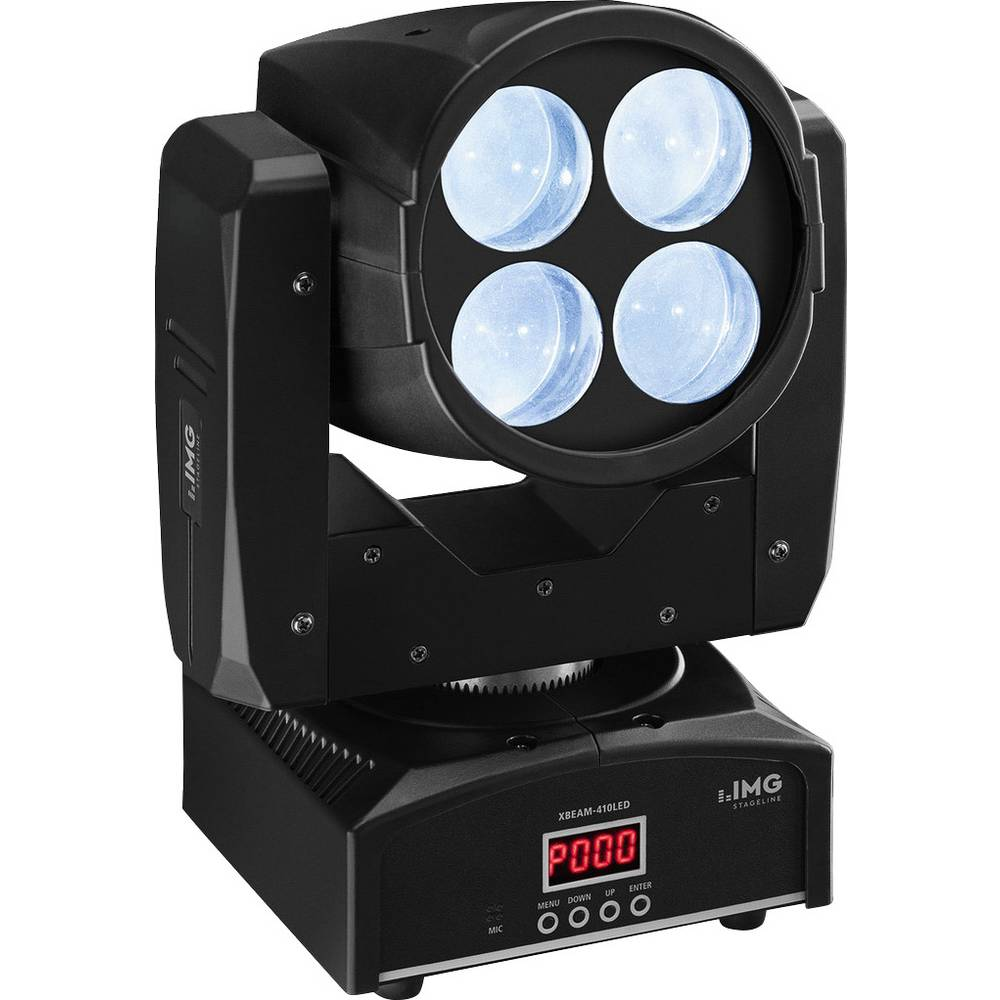 LED-Moving Heads IMG STAGELINE XBEAM-410LED Antal LED:4 x 10 W