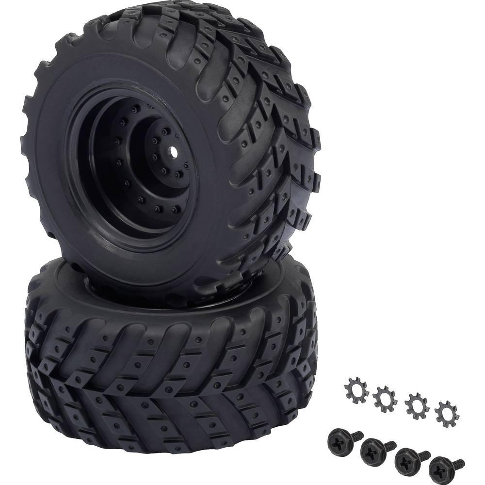 Reely 1:10 XS monster truck kompletna kolesa v-block hotlander črna 2 kos