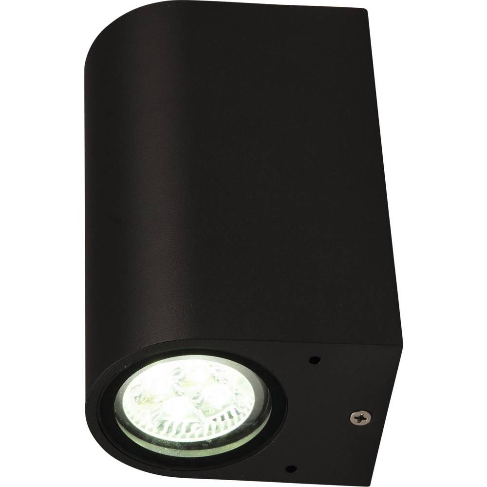 LED zunanja stenska svetilka GU10 22 W Heitronic Ambos 35376 grafitne barve