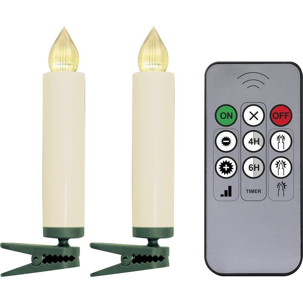 LED Julgransbelysning trådlös Stearinljus Inomhus Polarlite batteri 10 Varmvit