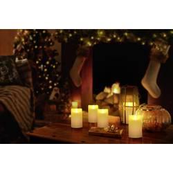 LED sveča iz pravega voska, slonokoščene barve, topla bela (premer x V) 7.5 cm x 12.5 cm Polarlite