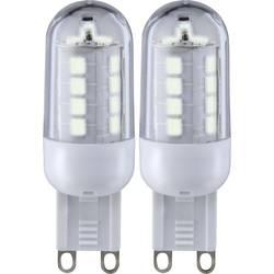 Sygonix LED EEK A+ (A++ - E) G9 Vtična oblika 3 W = 25 W Toplo bela (Ø x D) 19.50 mm x 59 mm 2 KOS