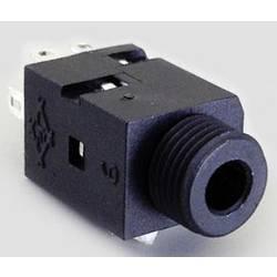 Klinken utični konektor 3.5 mm utičnica, vertikalna ugradnja, broj polova: 2 mono, TRU Components 1 kom.