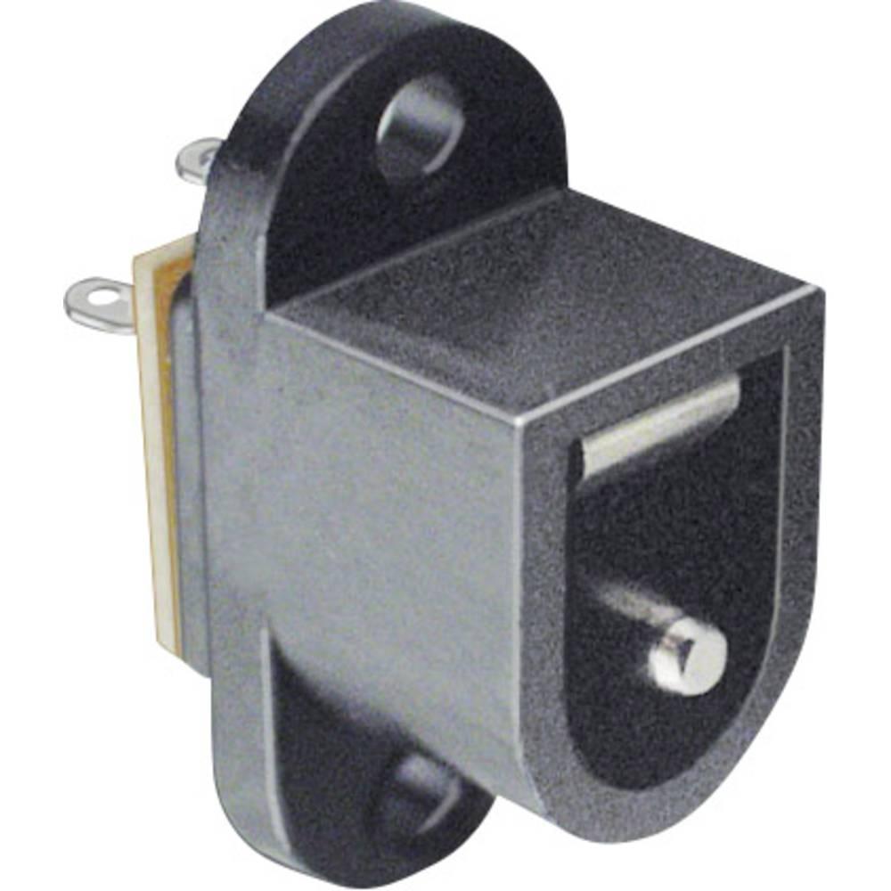 Lavspændingsstik Flangetilslutning 6.4 mm 2.1 mm BKL Electronic 072726 1 stk