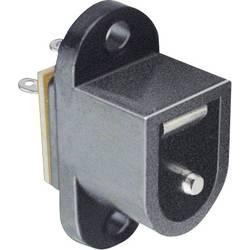 Niskonaponski konektor, utičnica s prirubnicom 6.4 mm 2.1 mm TRU Components 1 kom.