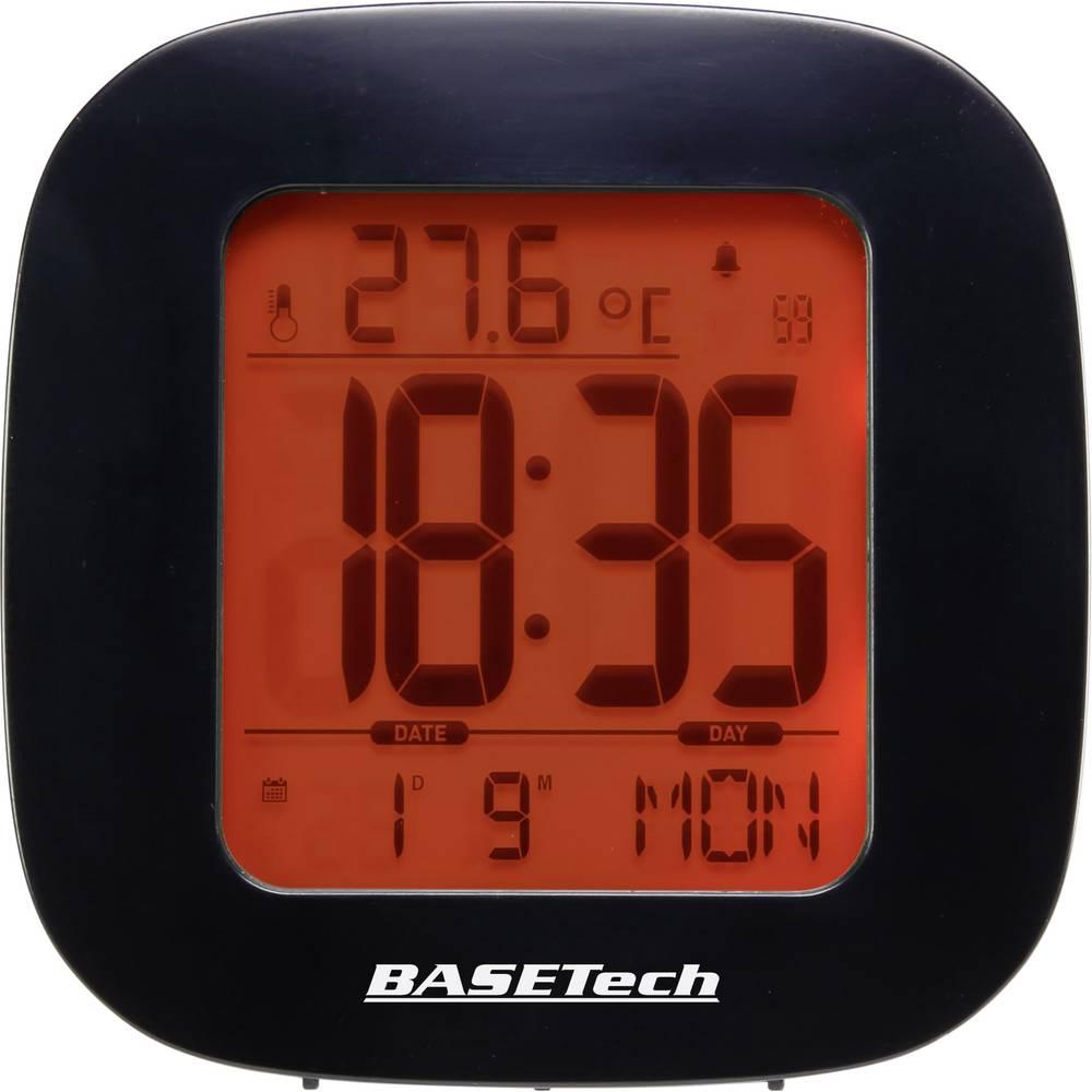 Bežična budilica E0126R Basetech crna broj alarmnih vremena 1