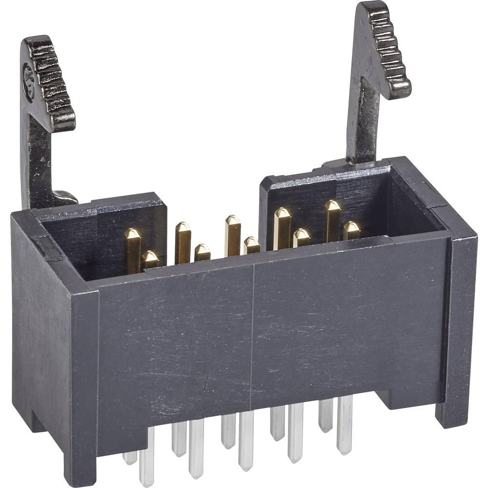 Stiftliste Med aflåsningshåndtag kort Rastermål: 2.54 mm Samlet antal poler: 20 TE Connectivity 1 stk