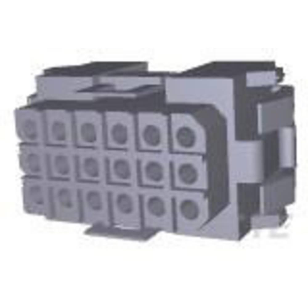 Ohišje kabelske vtičnice, skupno št. polov: 18 TE Connectivity 207442-1 razporeditev kontaktov: 5 mm 1 kos