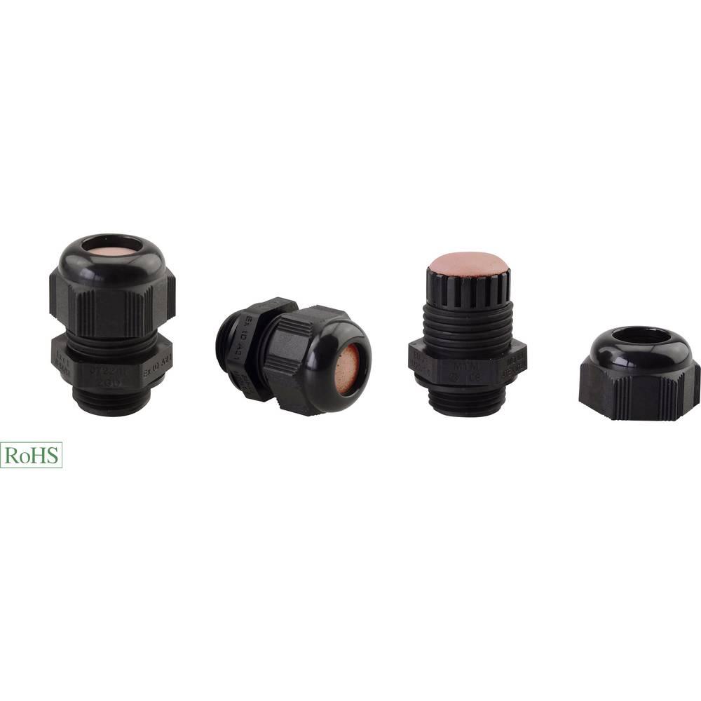 Kabelska uvodnica ATEX M25 poliamid, črne barve Helukabel HT-PA-EX 906693 1 kos