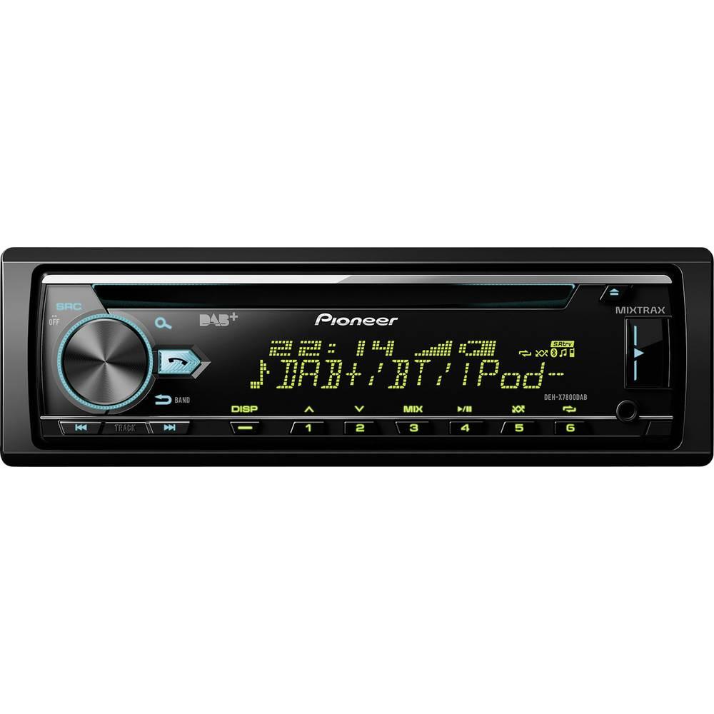 Bilradio Pioneer DEH-X7800DAB DAB+ tuner, Håndfrit Bluetooth®-system, Tilslutning til ratbetjening