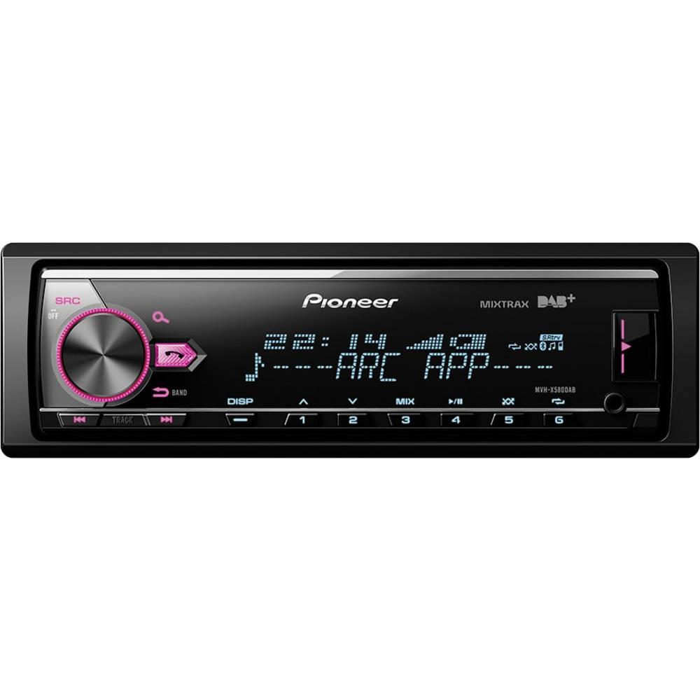 Bilradio Pioneer MVH-X580DAB DAB+ tuner, Tilslutning til ratbetjening, Håndfrit Bluetooth®-system