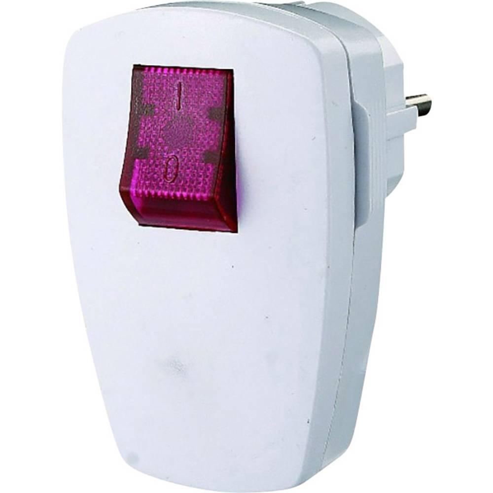 Zaščitni kotni vtič 230 V bele barve IP20 GAO EMP100SWL