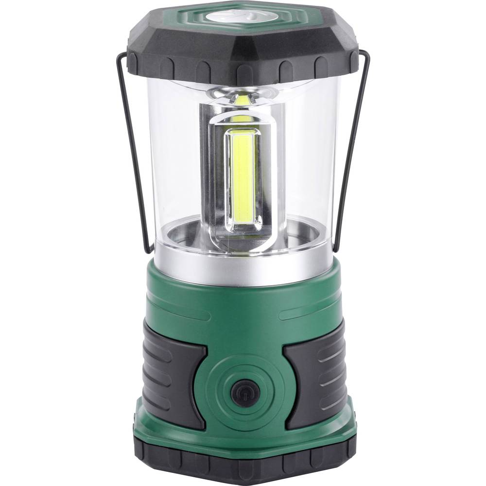 LED laterna za kampiranje Ampercell Korsika baterijsko napajanje 700 g temno zelena, črna 10401