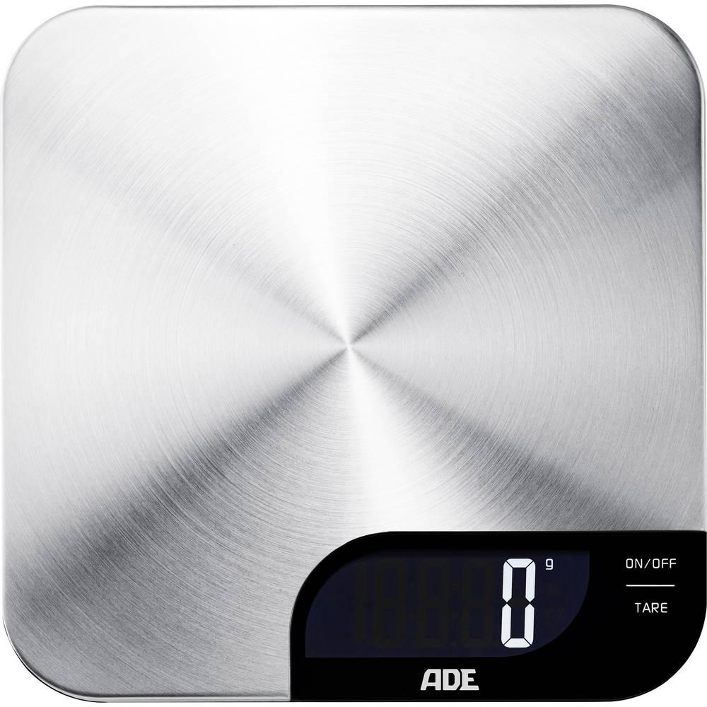 Kuhinjska tehtnica Digitalna ADE KE 1600 Alessia Območje tehtanja=5 kg Legirano jeklo