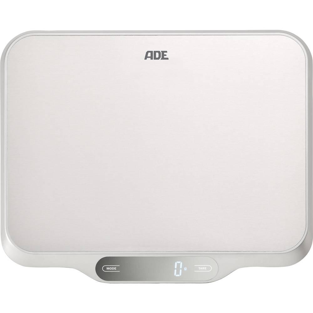 Kuhinjska tehtnica Digitalna ADE KE 1601 Ladina Območje tehtanja=15 kg Legirano jeklo