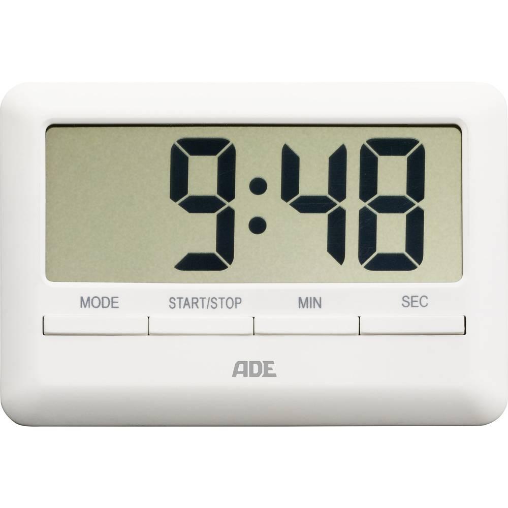 ADE digitalni kuhinjski mjerač vremena TD 1600 (D x Š x V) 101 x 70 x 11 mm bijeli