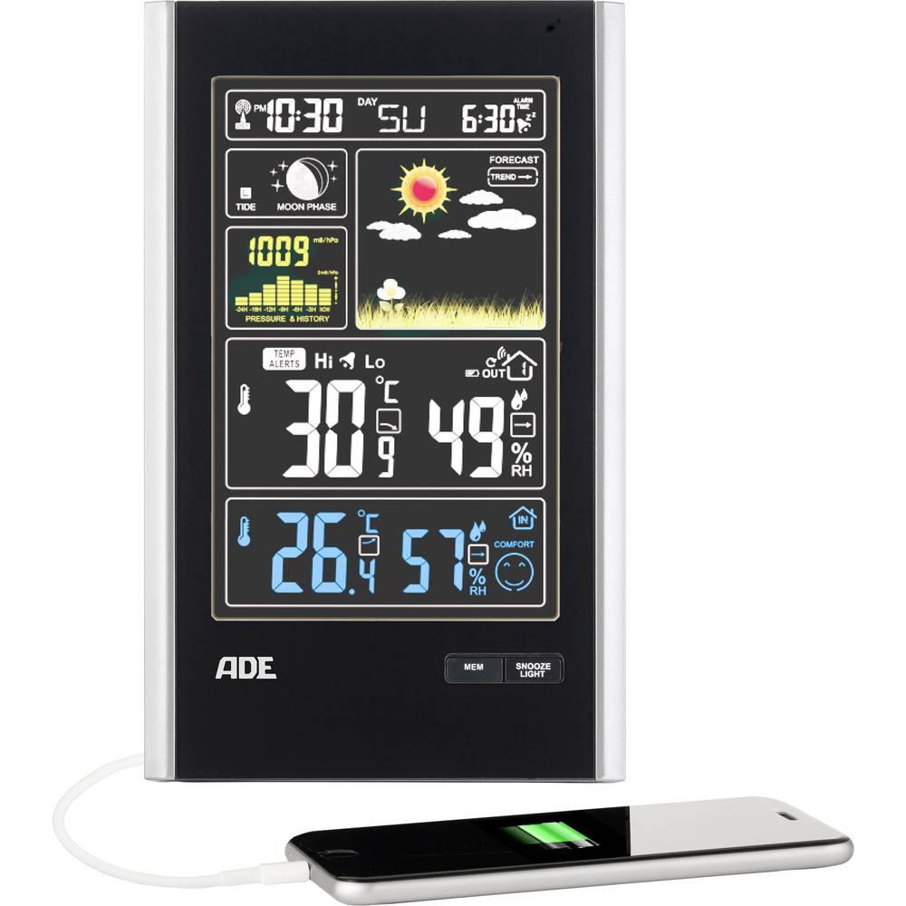 ADE Bežična vremenska stanica sa vanjskim senzorom WS 1600 crne boje