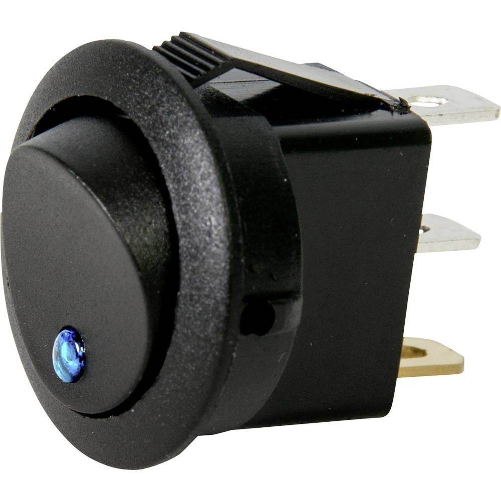 Avtomobilsko stikalo 12 V 10 A 1 x izklop/vklop zaskočno HP Autozubehör modre barve 1 kos