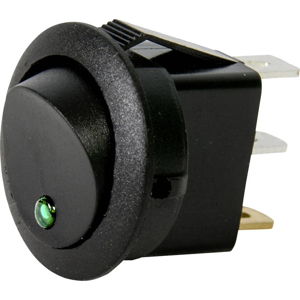 Avtomobilsko stikalo 12 V 10 A 1 x izklop/vklop zaskočno HP Autozubehör Mini luč zelene barve 1 kos
