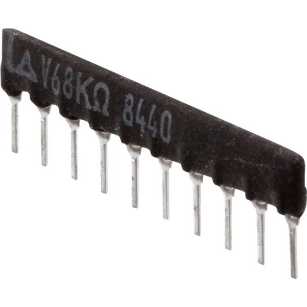 Otporna mreža radijalno ožičena SIP-10 125 mW Panasonic EXB-F10WT03G 1 kom.