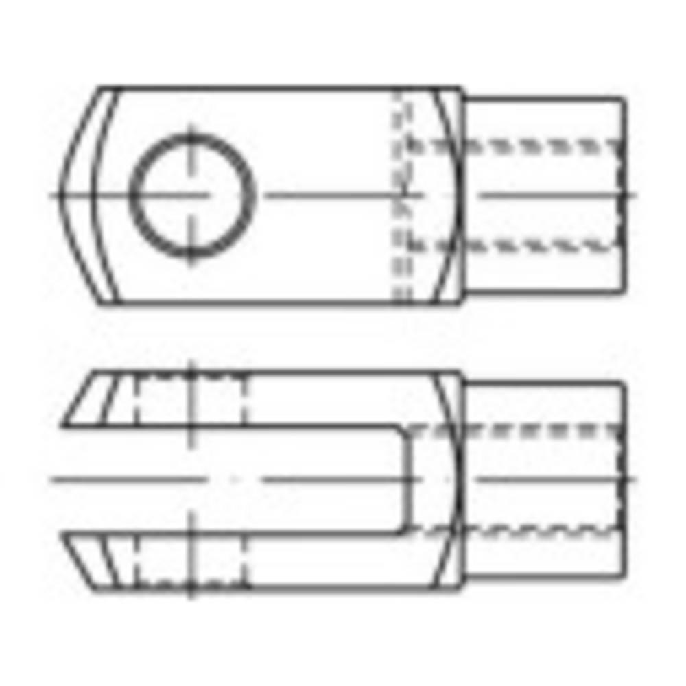 Gaffelleder TOOLCRAFT DIN 71752 40 mm Stål, galvaniskt förzinkad 10 st
