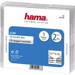 CD Prazni ovitki SlimDouble 2 CDja, 5 Prazni transparentni 2 CDs (D x Š x V ) 125 x 5.2 x 142 mm Hama