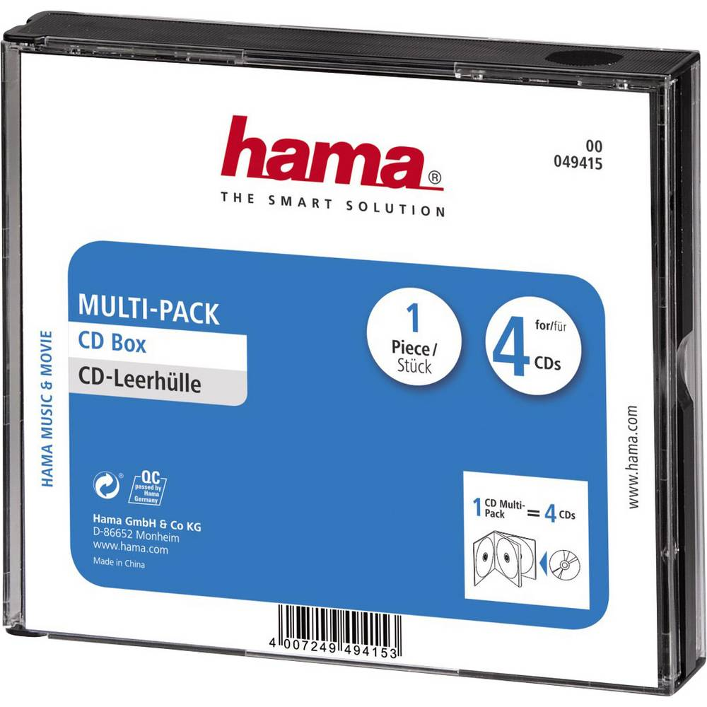 Prazne kutije za CD-e Multipack Hama 4 CD-a