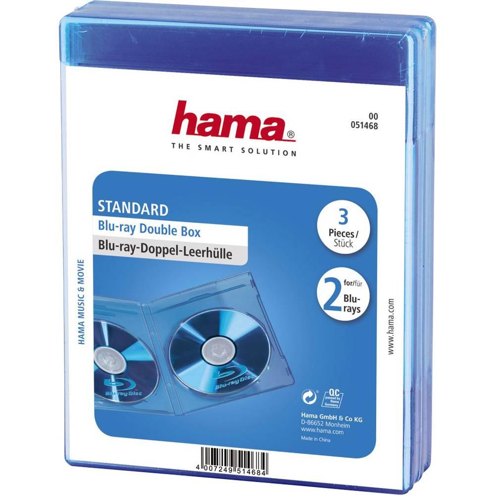 Blue-ray Prazni ovitki Doppel 2 Blue-ray, 3ovitki, modra (D x Š x V ) 135 x 10 x 170 mm Hama
