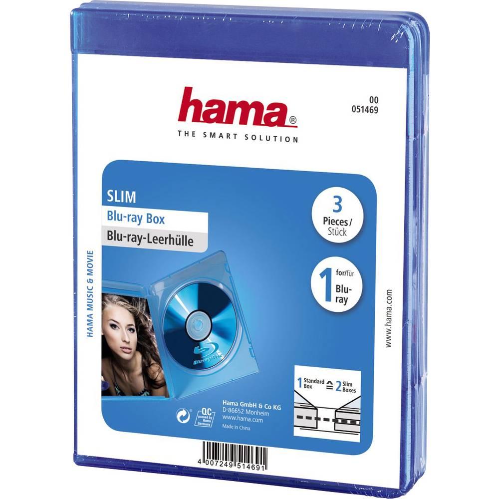 Blue-ray Prazni ovitki Slim 1 Blue-ray-Disc, 3ovitki modra 1 Blue-ray-Disc (D x Š x V ) 135 x 6 x 170 mm Hama