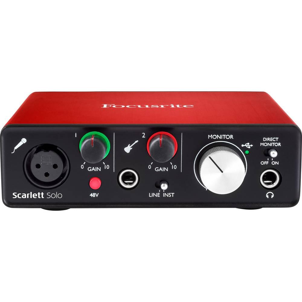 Avdio vmesnik Focusrite SCARLETT SOLO 2ND GEN Monitor-Controlling, vklj. software