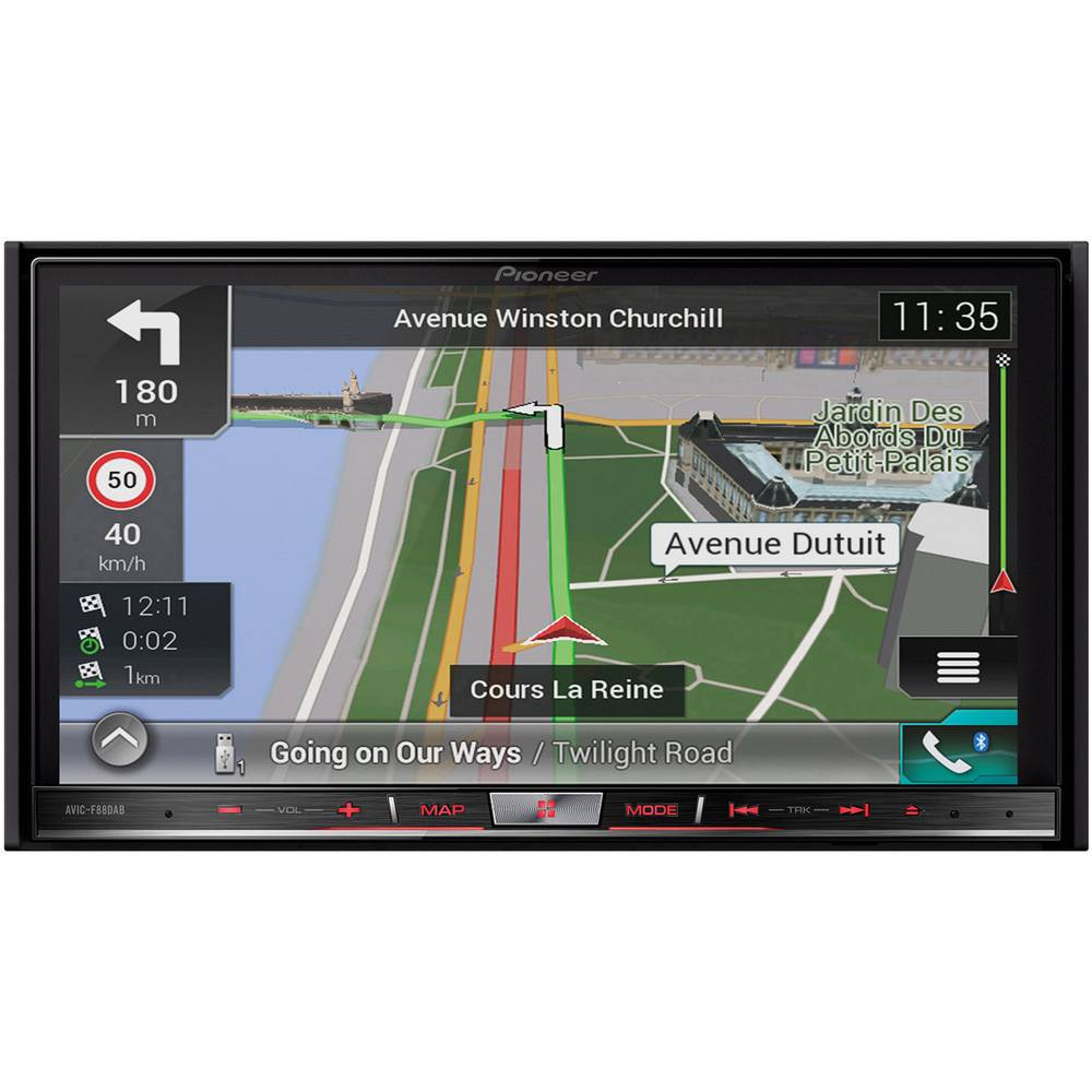 Pioneer AVIC-F88DAB Navigationsenhed, fastmontering Europa AppRadio, Håndfrit Bluetooth®-system, DAB+ tuner, Integreret navigati