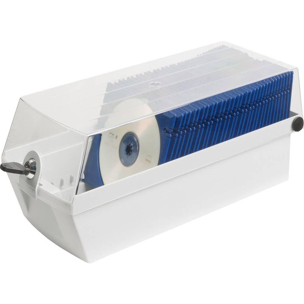 Škatla za CDje MÄX 60 siva 30 Cdjev z ovitkom (Jewel Case) ali do 60 Cdjev v ujemajočih MÄX-pladnjih (D x Š x V ) 365 x 168 x 15