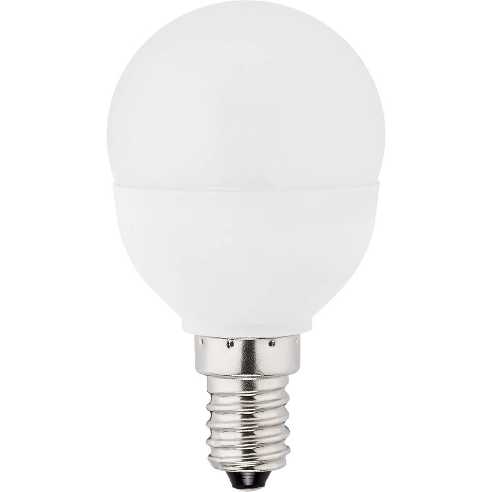 LED žarnica (enobarvna) Müller Licht 230 V E14 5.5 W = 40 W topla bela, energ. razred: A+ oblika kapljice (premer x D) 45 mm x 8